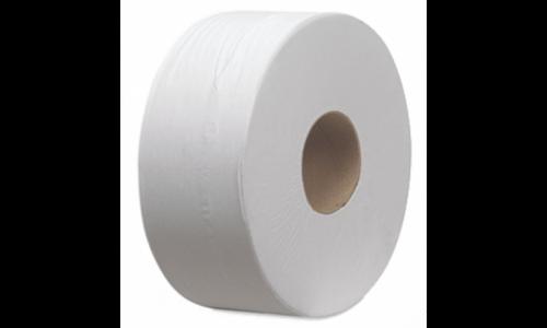 Egyrétegű natúr toalettpapír, 18 cm