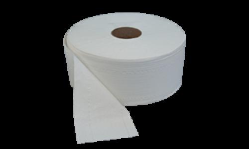 Kétrétegű törtfehér toalettpapír, 18 cm